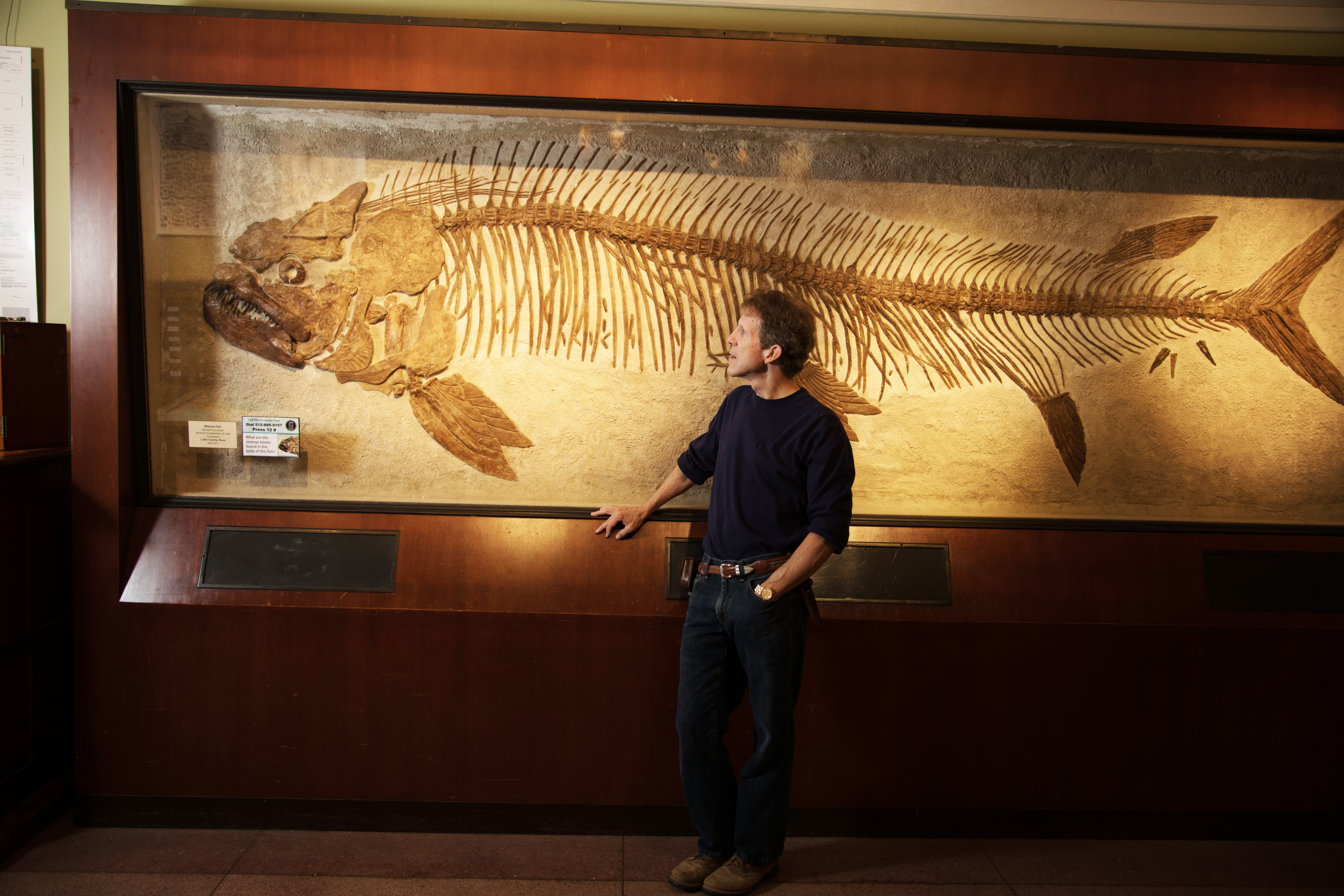 Neil Bockoven with Fossil